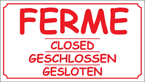 26-09-2020 / 14-10-2020 CLOSED FOR HOLIDAY